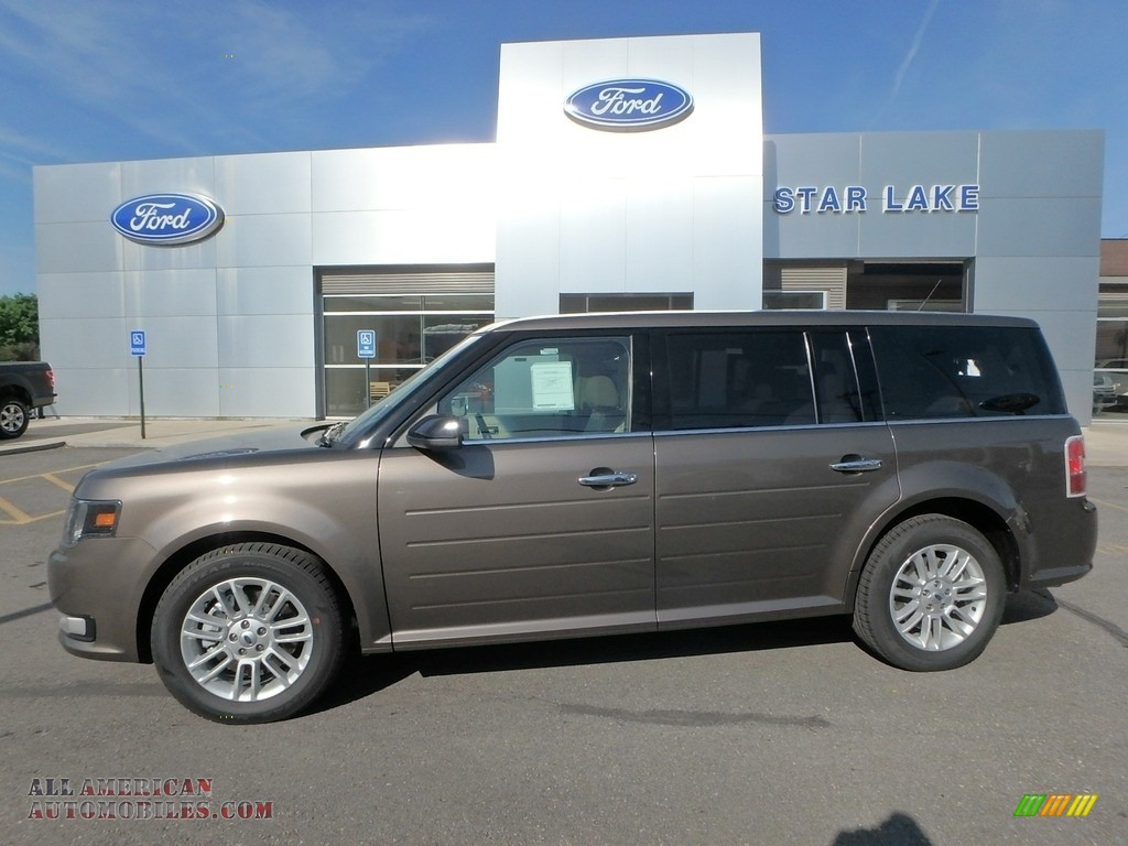 Stone Gray / Dune Ford Flex SEL AWD