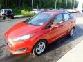 Ford Fiesta SE Sedan Hot Pepper Red photo #7