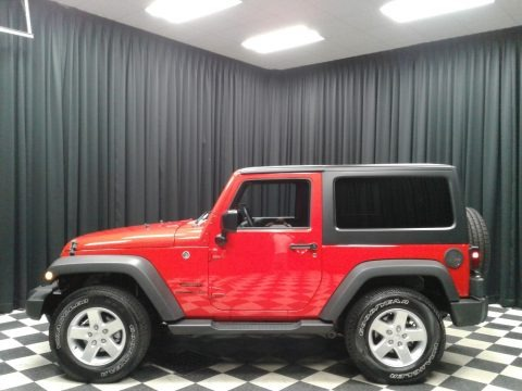 Firecracker Red 2016 Jeep Wrangler Sport