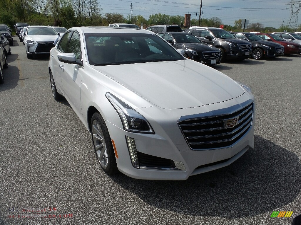 2019 CTS Luxury AWD - Crystal White Tricoat / Very Light Cashmere photo #1