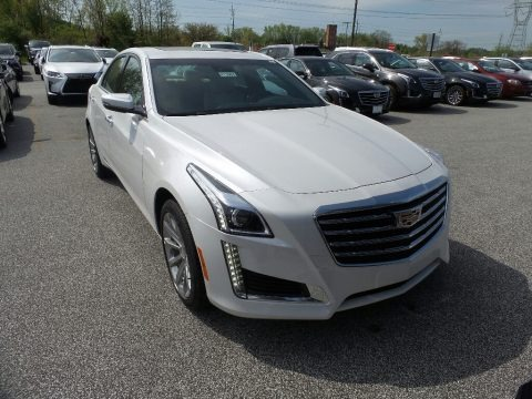 Crystal White Tricoat 2019 Cadillac CTS Luxury AWD
