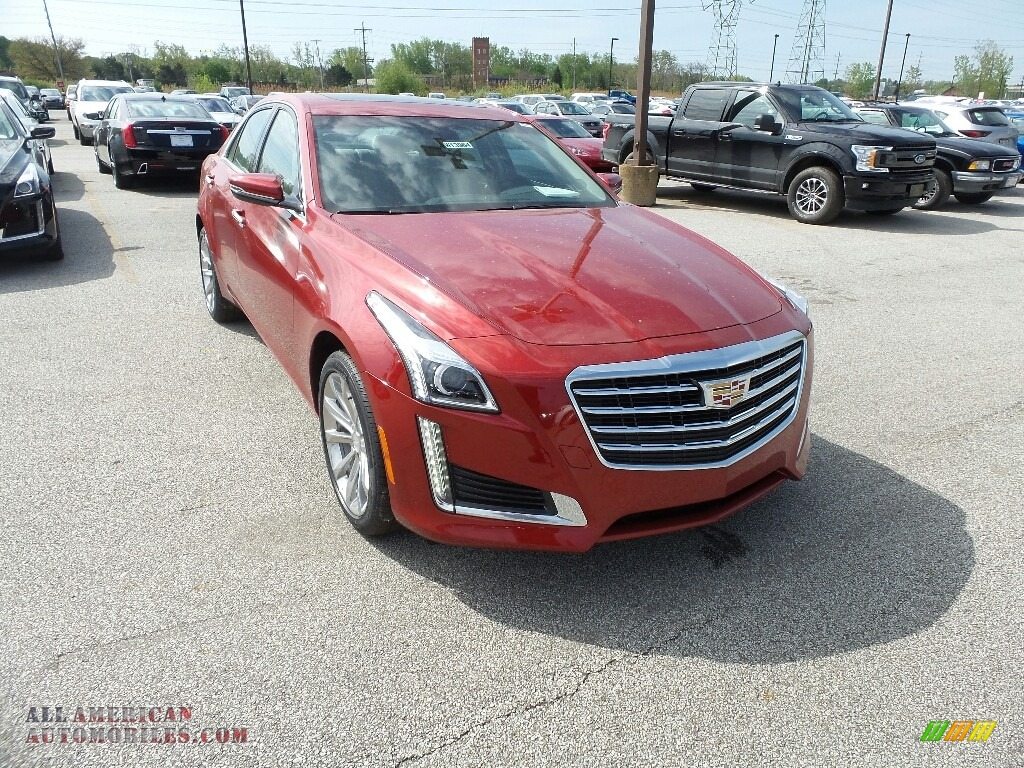 2019 CTS Luxury AWD - Red Obsession Tintcoat / Light Platinum photo #1