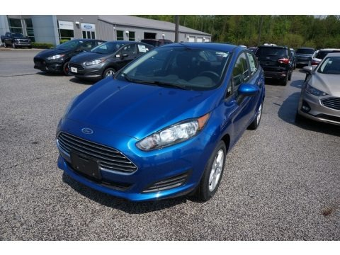 Lightning Blue 2019 Ford Fiesta SE Sedan