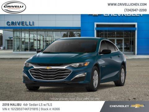 Pacific Blue Metallic 2019 Chevrolet Malibu LS