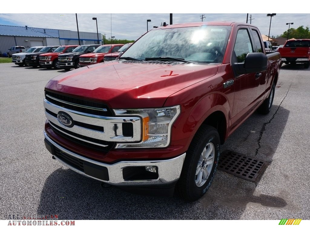 2019 F150 XLT SuperCab 4x4 - Ruby Red / Earth Gray photo #1