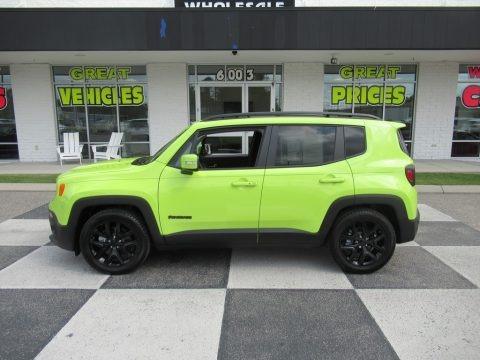 Hypergreen 2017 Jeep Renegade Latitude