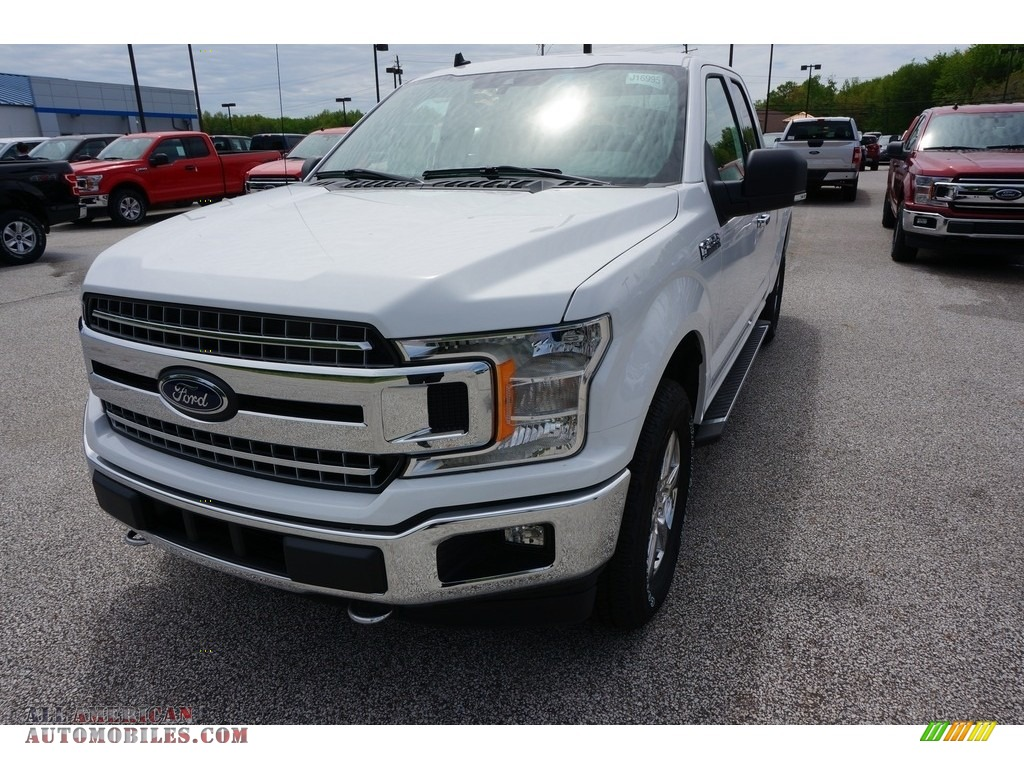 Oxford White / Earth Gray Ford F150 XLT SuperCab 4x4