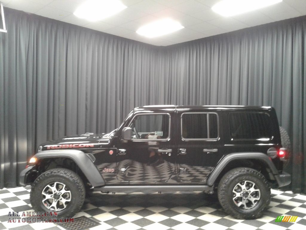2019 Wrangler Unlimited Rubicon 4x4 - Black / Black/Heritage Tan photo #1
