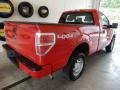 Ford F150 XL Regular Cab 4x4 Vermillion Red photo #4