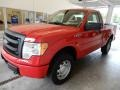 Ford F150 XL Regular Cab 4x4 Vermillion Red photo #9