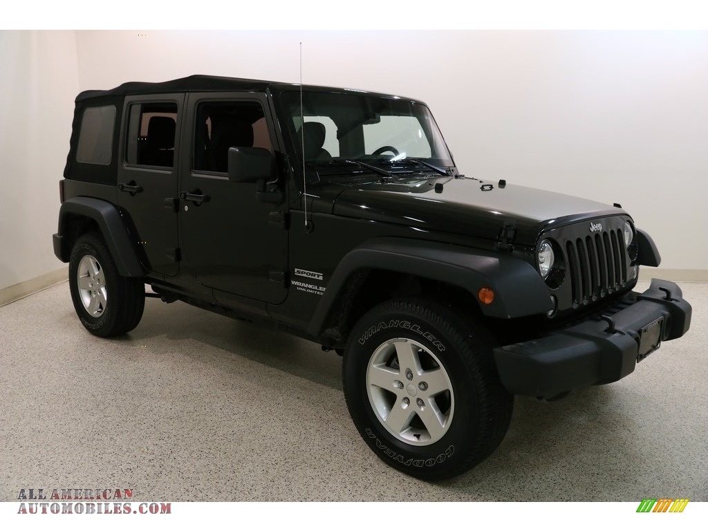 2016 Wrangler Unlimited Sport 4x4 - Black / Black photo #1