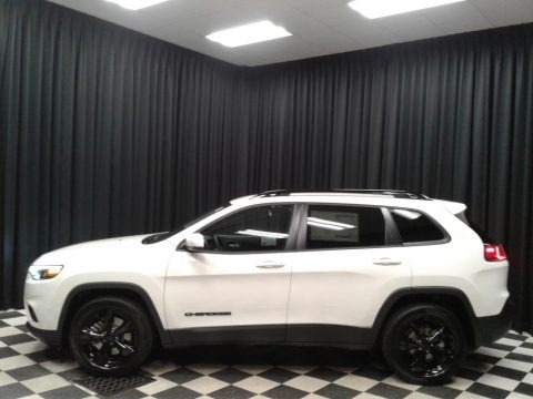 Pearl White 2019 Jeep Cherokee Latitude Plus