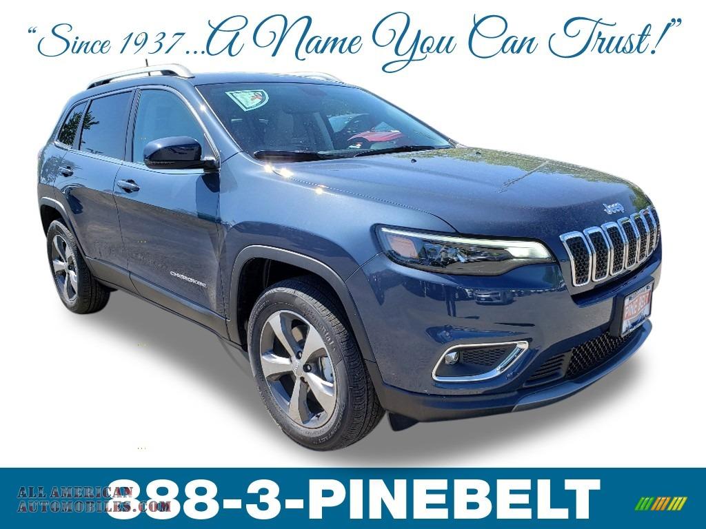 Blue Shade Pearl / Black/Ski Grey Jeep Cherokee Limited 4x4