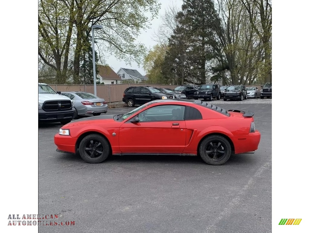 2004 Mustang V6 Coupe - Competition Orange / Medium Graphite photo #2