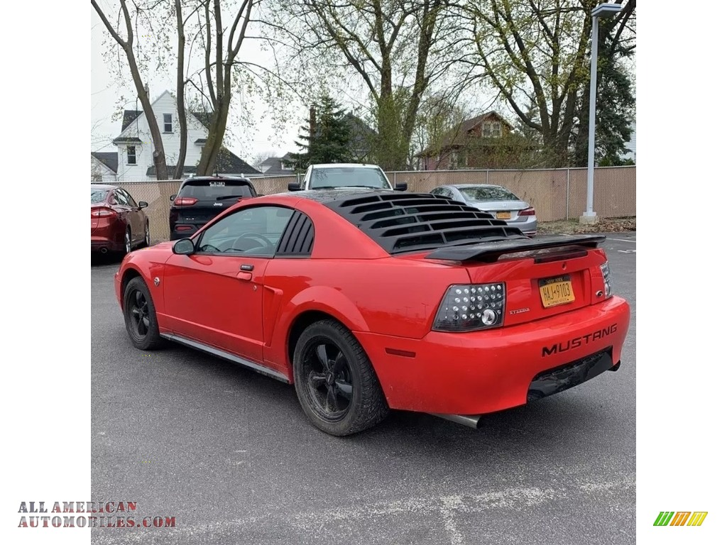 2004 Mustang V6 Coupe - Competition Orange / Medium Graphite photo #3