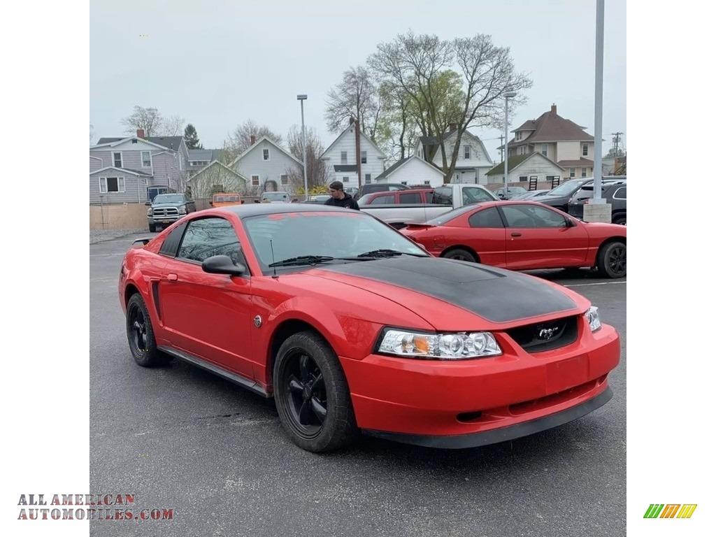 2004 Mustang V6 Coupe - Competition Orange / Medium Graphite photo #7