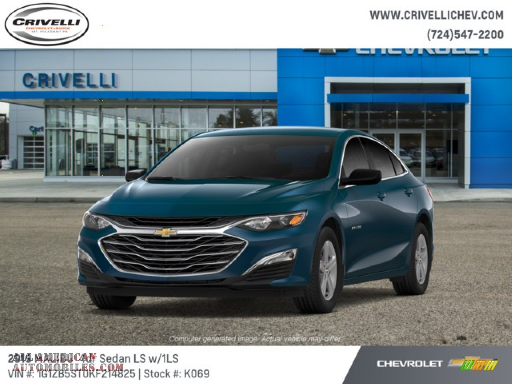 Pacific Blue Metallic / Jet Black Chevrolet Malibu LS