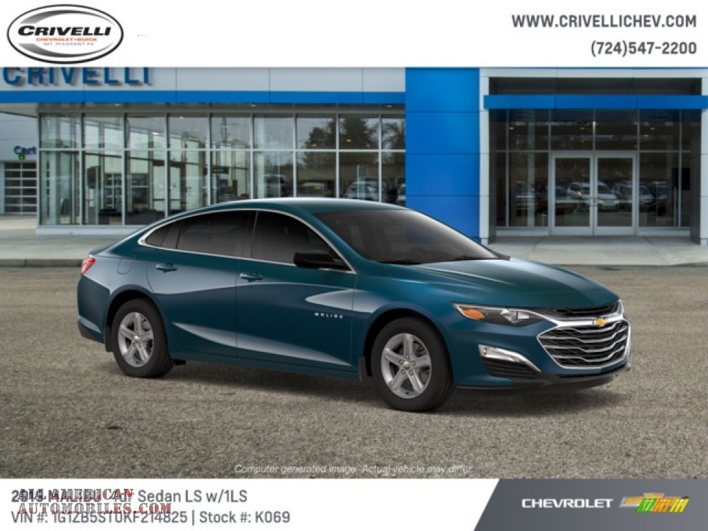 2019 Malibu LS - Pacific Blue Metallic / Jet Black photo #3