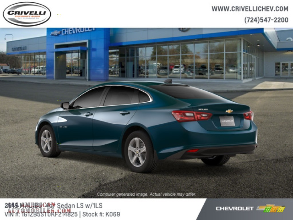 2019 Malibu LS - Pacific Blue Metallic / Jet Black photo #4