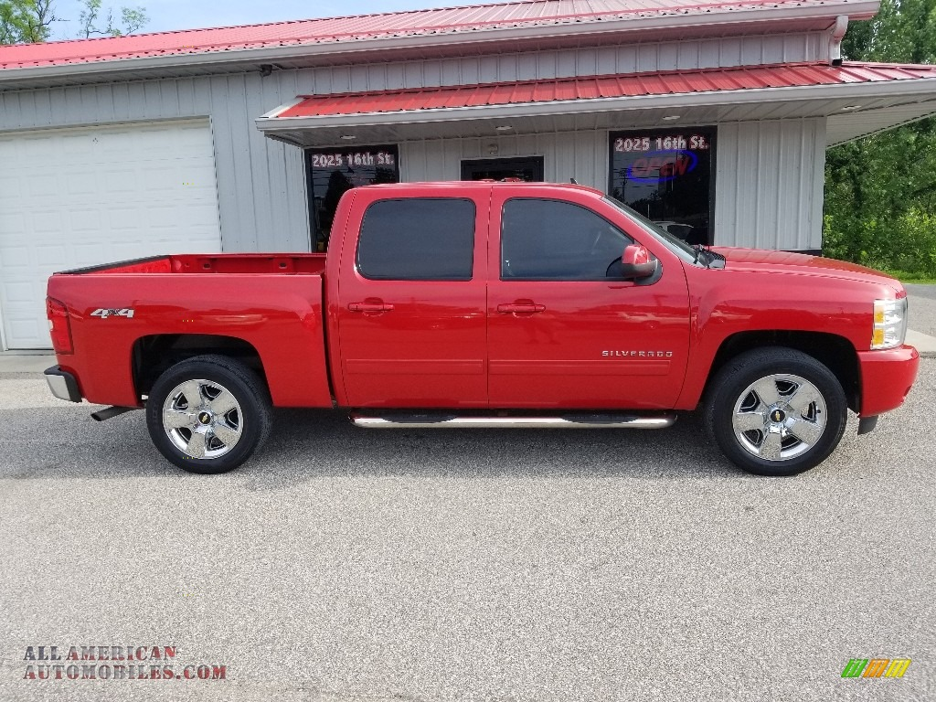 2011 Silverado 1500 LTZ Crew Cab 4x4 - Victory Red / Ebony photo #1