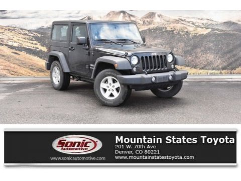 Black 2016 Jeep Wrangler Sport