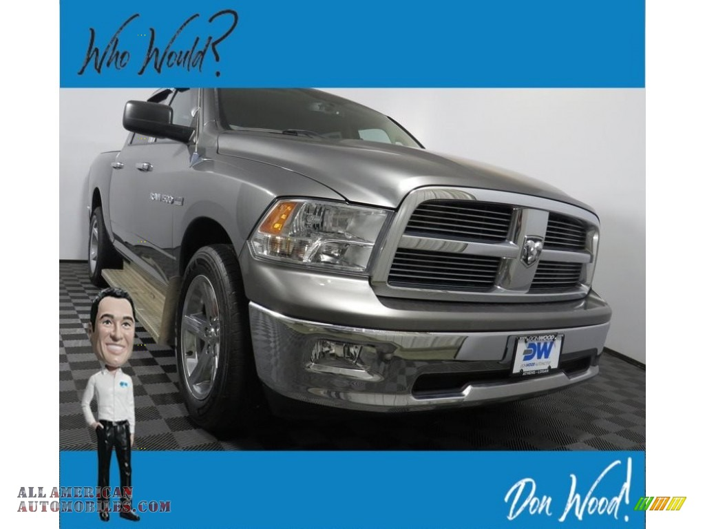 2012 Ram 1500 Big Horn Crew Cab 4x4 - Mineral Gray Metallic / Dark Slate Gray/Medium Graystone photo #1