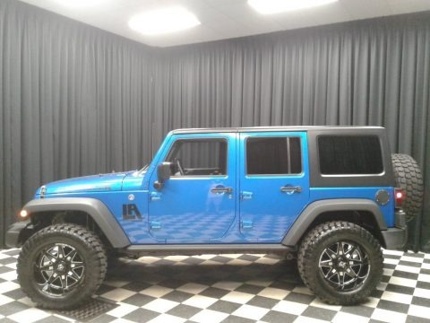 Hydro Blue Pearl 2016 Jeep Wrangler Unlimited Sport 4x4