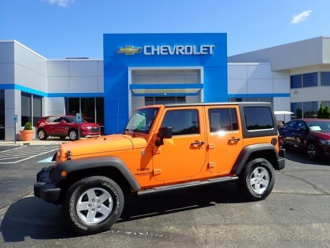 Crush Orange 2012 Jeep Wrangler Unlimited Sport 4x4