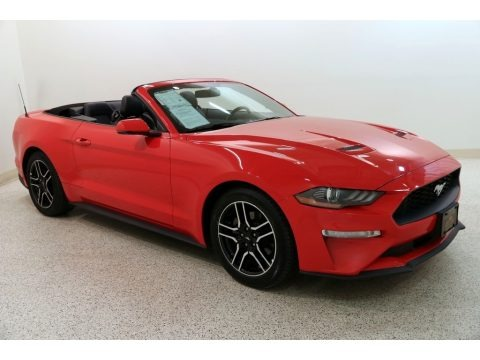 Race Red 2019 Ford Mustang EcoBoost Premium Convertible