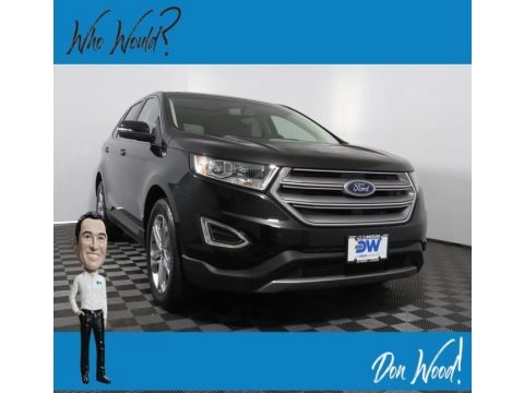 Shadow Black 2018 Ford Edge Titanium AWD