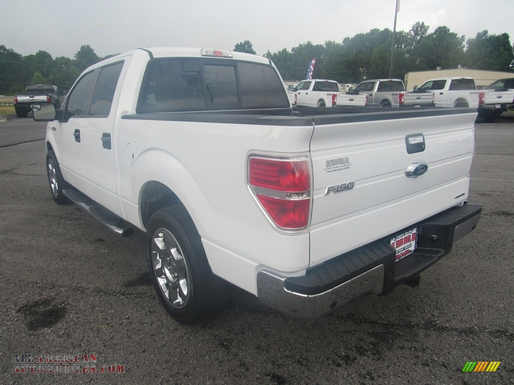2014 F150 XLT SuperCrew - Oxford White / Steel Grey photo #3