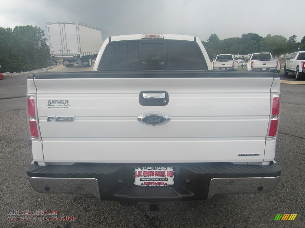 2014 F150 XLT SuperCrew - Oxford White / Steel Grey photo #4