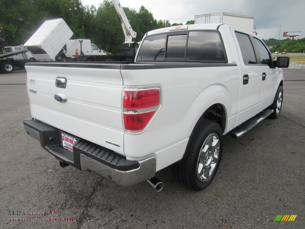 2014 F150 XLT SuperCrew - Oxford White / Steel Grey photo #5