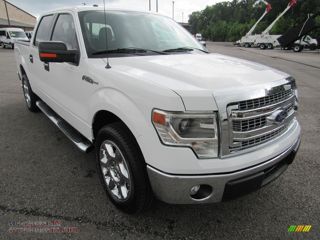 2014 F150 XLT SuperCrew - Oxford White / Steel Grey photo #7