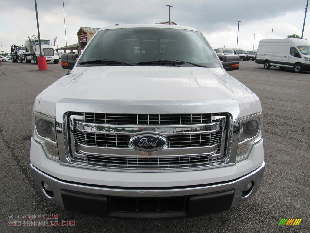 2014 F150 XLT SuperCrew - Oxford White / Steel Grey photo #8