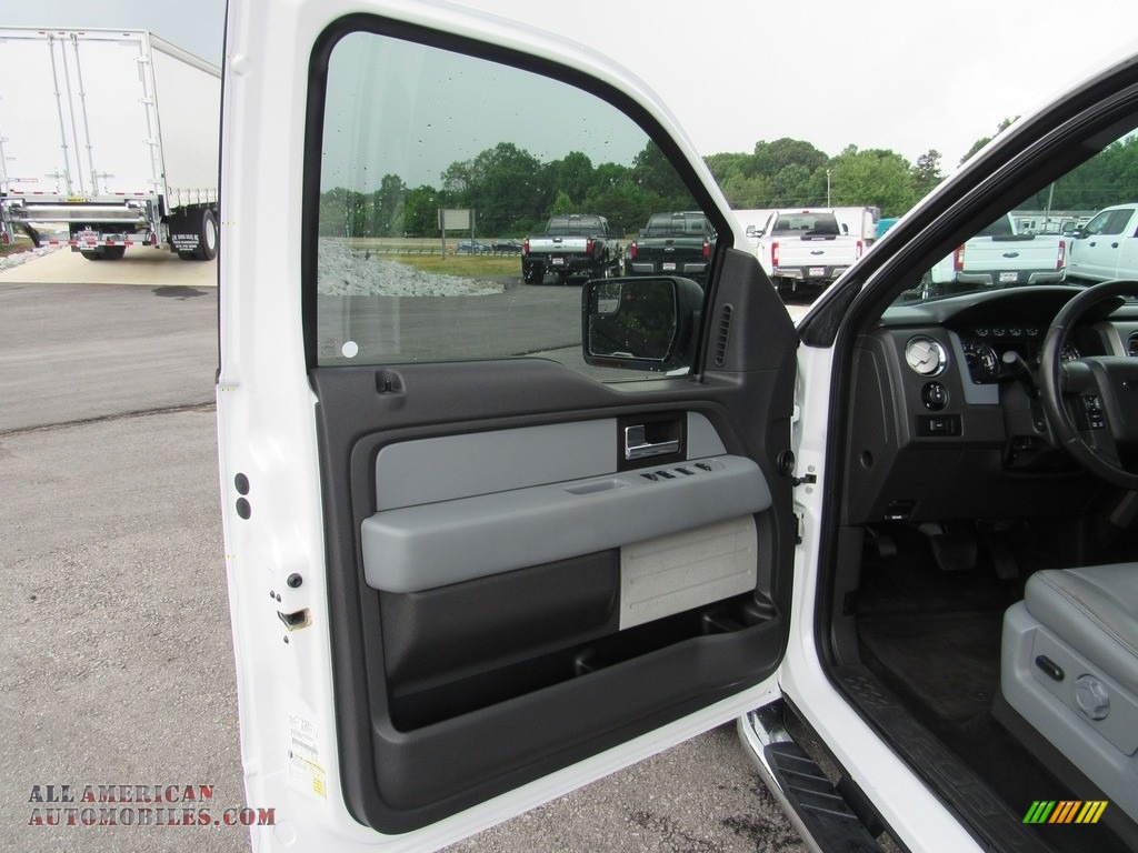 2014 F150 XLT SuperCrew - Oxford White / Steel Grey photo #12