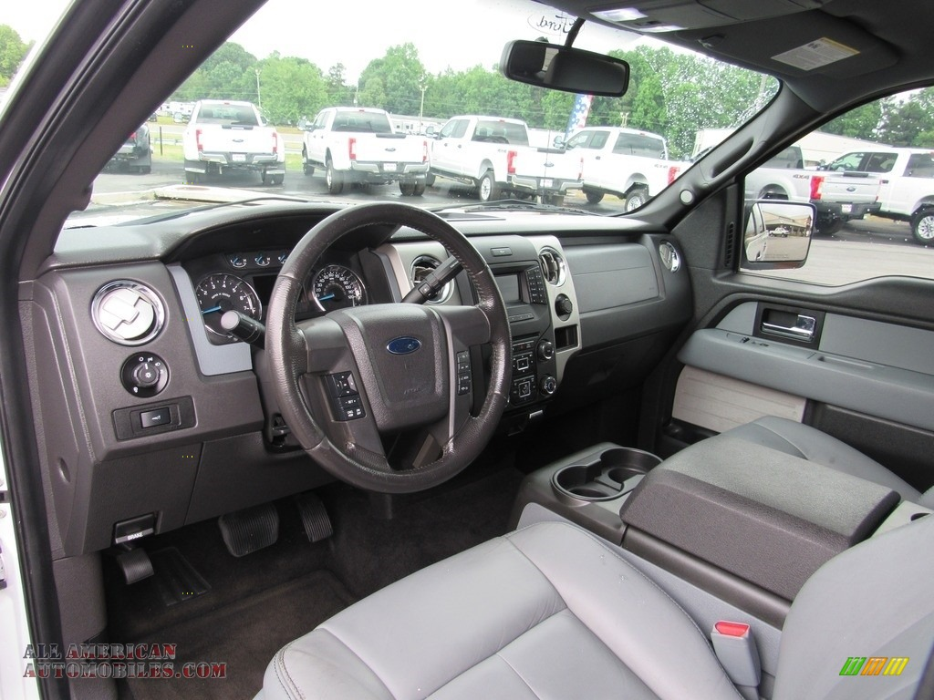 2014 F150 XLT SuperCrew - Oxford White / Steel Grey photo #14
