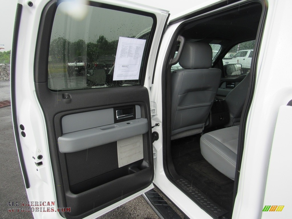 2014 F150 XLT SuperCrew - Oxford White / Steel Grey photo #29
