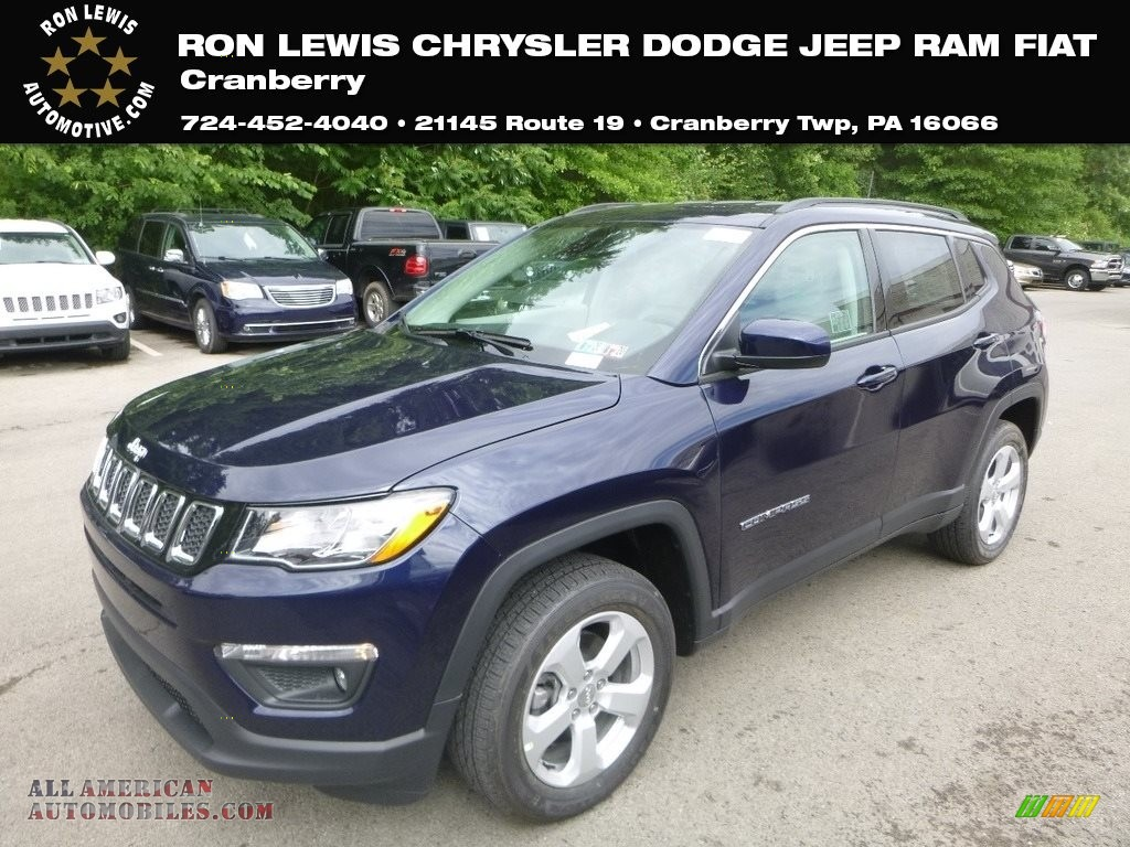 2019 Compass Latitude 4x4 - Jazz Blue Pearl / Black/Ski Gray photo #1
