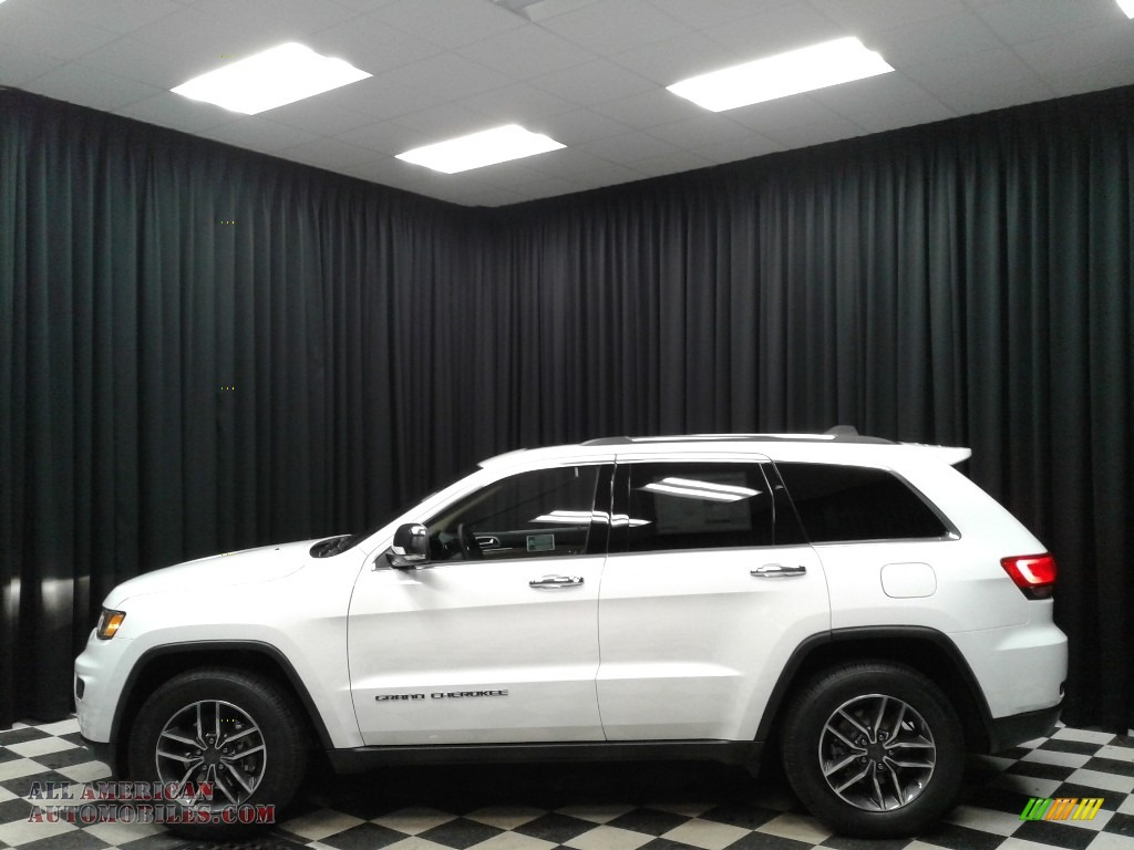 Bright White / Light Frost Beige/Black Jeep Grand Cherokee Limited