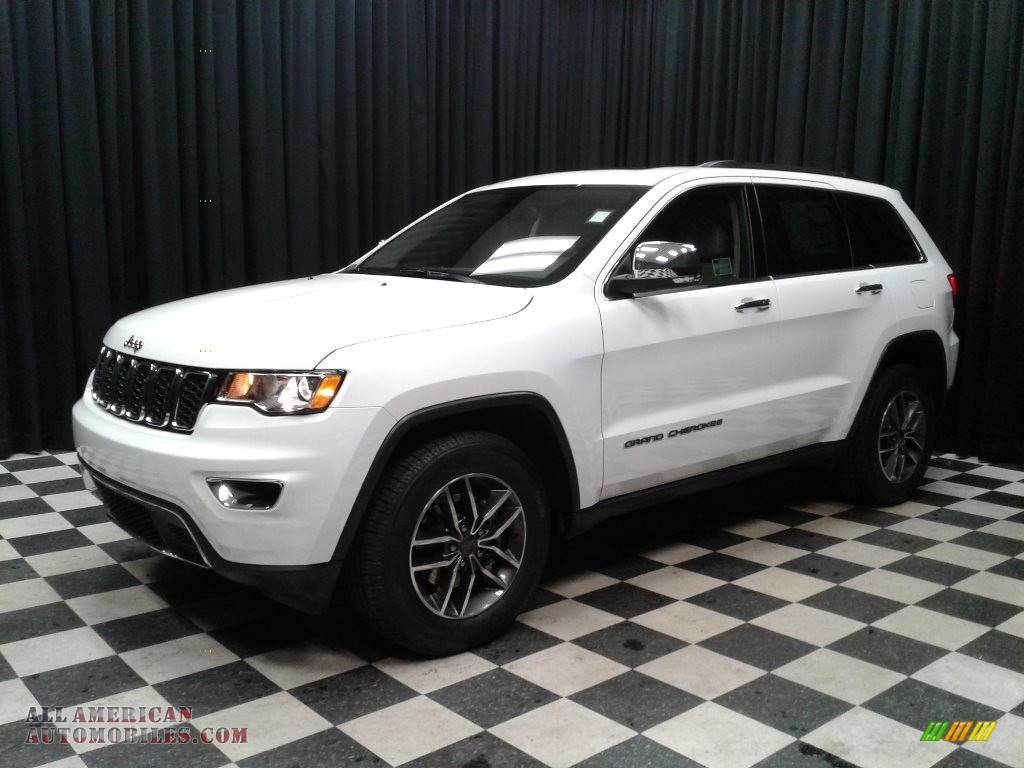 2019 Grand Cherokee Limited - Bright White / Light Frost Beige/Black photo #2
