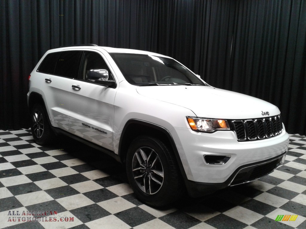 2019 Grand Cherokee Limited - Bright White / Light Frost Beige/Black photo #4