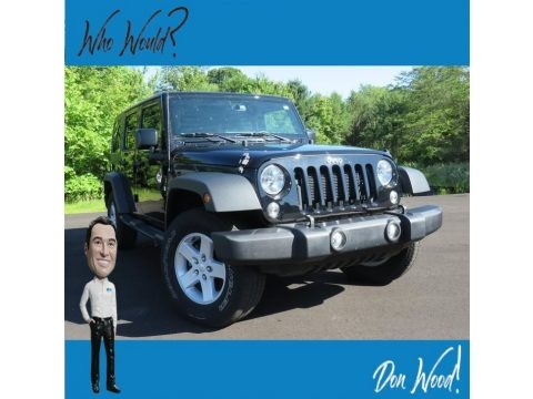 Black 2016 Jeep Wrangler Unlimited Sport 4x4