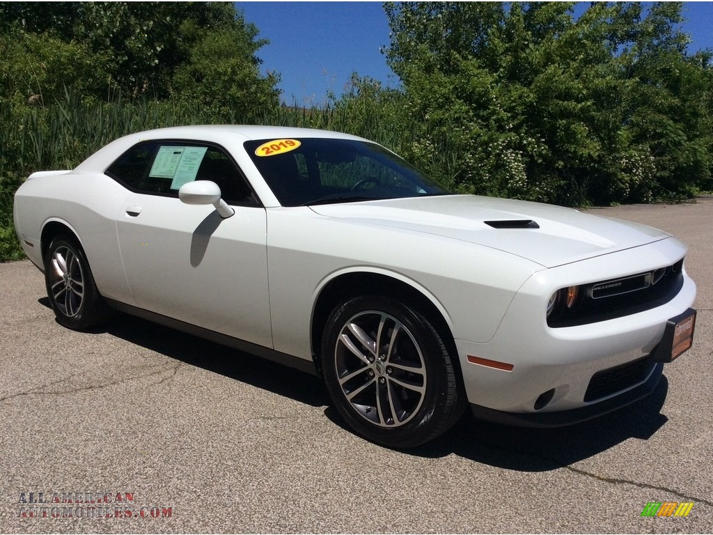 2019 Challenger SXT AWD - White Knuckle / Black photo #7