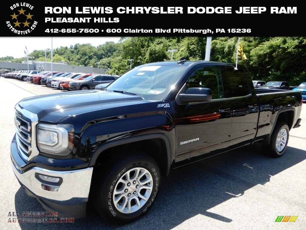 2016 Sierra 1500 SLE Double Cab 4WD - Onyx Black / Jet Black photo #1