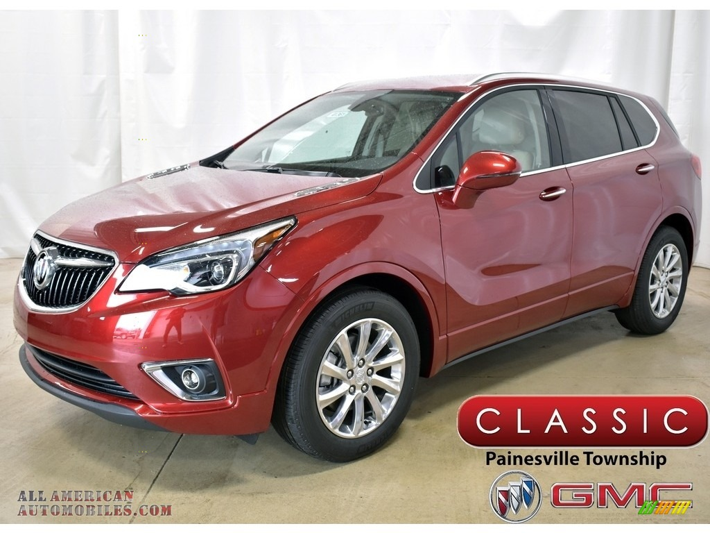2019 Envision Essence - Chili Red Metallic / Light Neutral photo #1