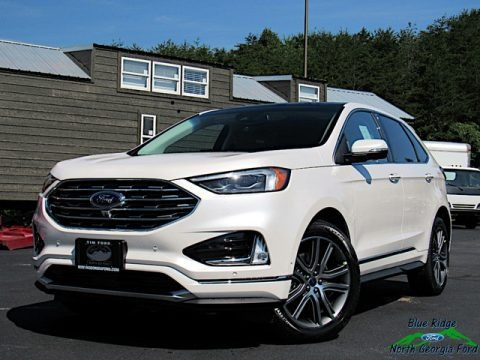 White Platinum 2019 Ford Edge Titanium AWD