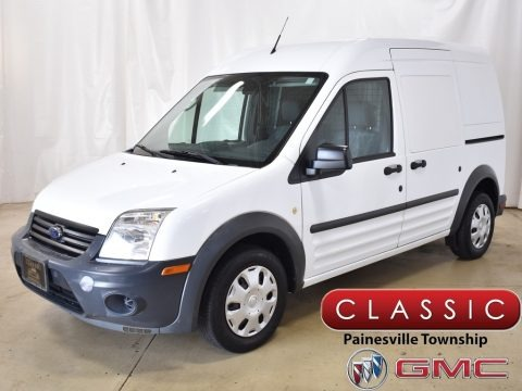 Frozen White 2012 Ford Transit Connect XL Van