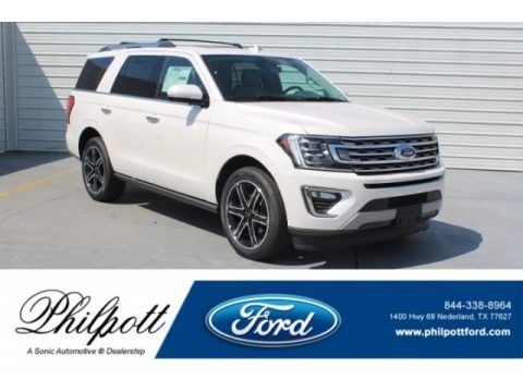 White Platinum Metallic Tri-Coat 2019 Ford Expedition Limited