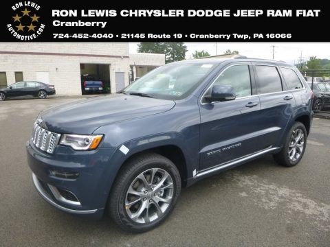 Slate Blue Pearl 2019 Jeep Grand Cherokee Summit 4x4